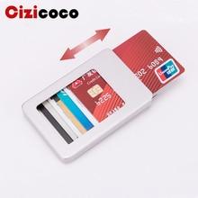 2019 New Aluminum Rfid Card Holder Wallet Antimagnetic Alloy Men Credit card holder Women Slim Dollar Clip Purse Mini wallet
