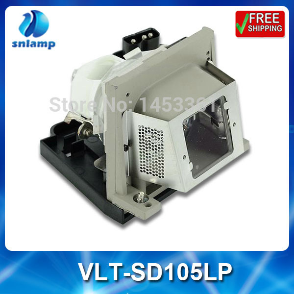 Compatible projector bulb lamp VLT-SD105LP with housing for SD105 SD105U XD105U compatible lamp with housing vlt hc5000lp for mitsubishi projector hc4900 hc5000 hc5500 hc6000 180days warrant