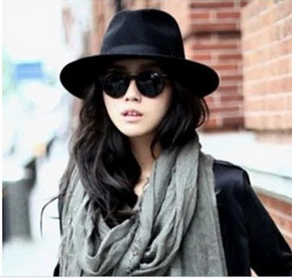 2014 New Fashion Cap Casual Fedora Hat Men Women Wool Sun Hat beach unisex  black hat-in Holidays Costumes from Novelty   Special Use on Aliexpress.com  ... 2a3f1fe3f20