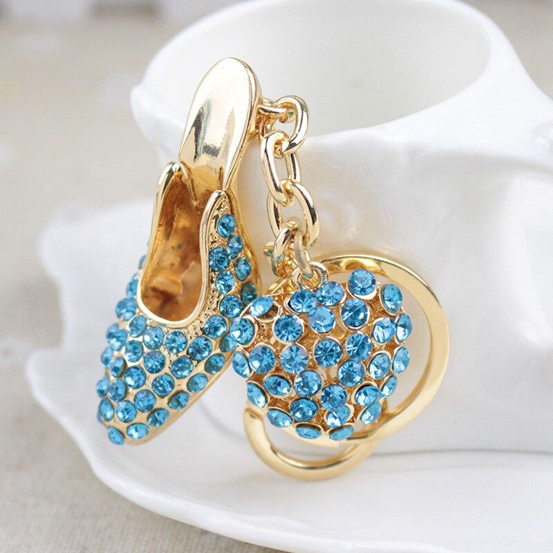 Shoe Keychain!Novelty Creative Hollow High-heeled Shoes Keyring charms bag Key Chain Rings Keyfob girl jewelry Girlfriend gift