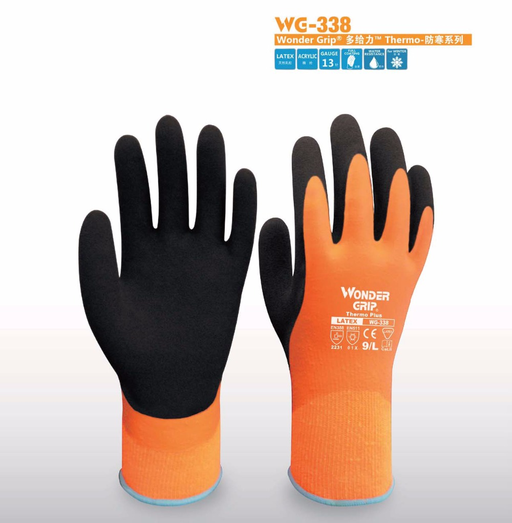 Thermal leather work gloves - Garden Gloves Refrigeratory Safety Glove Acrylic Cold Thermal Gloves Waterproof Winter Anit Cold Work Glove