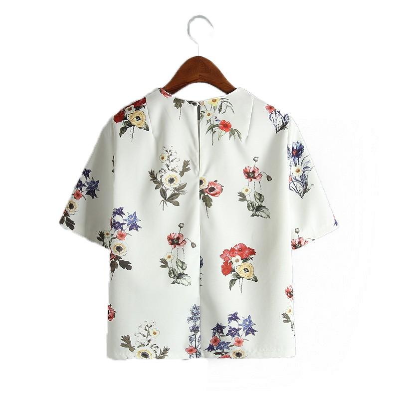 HTB1t sxLVXXXXbPXVXXq6xXFXXXC - women sweet floral print loose shirts short sleeve blouse