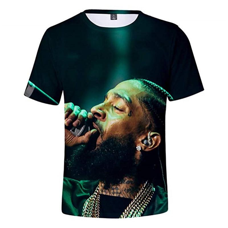 9f2bdfcec94c Cheap Nipsey Hussle 3D camisetas Hip Hop Rap camiseta rapero estadounidense  compositor Fans, regalo de