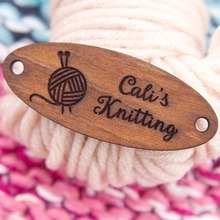 Custom Wood Tags, Wooden, Clothing Labels, Labels For Handmade, Branding  (WDBQ91)