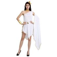 Umorden Halloween Costumes Sexy Women Greek Roman Goddess Costume Irregular Fancy Dress Toga Holiday Party Carnival Cosplay
