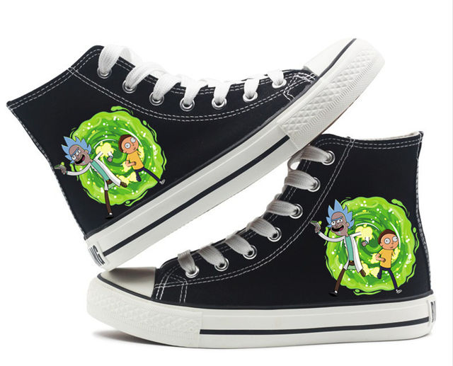 RICK AND MORTY HIGH TOP SHOES