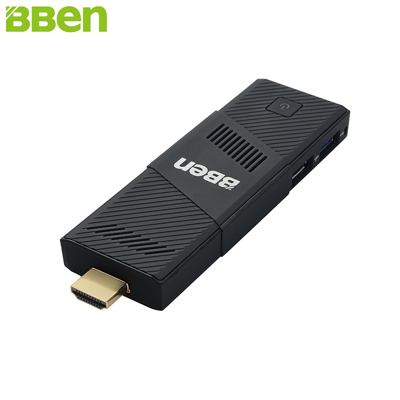 BBen MN9 Mini PC Stick Windows 10 Ubuntu Intel X5 Z8350 Quad Core 2G 4GB RAM-a Mute Fan WiFi Smart TV Stick PC Mini Computer Micro