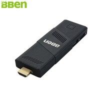 BBen MN9 Stick Mini PC Windows 10 Ubuntu Intel X5 Z8350 4 ядра 2 г 4 ГБ Оперативная память немой вентилятор WiFi Smart ТВ Придерживайтесь ПК мини компьютер микро