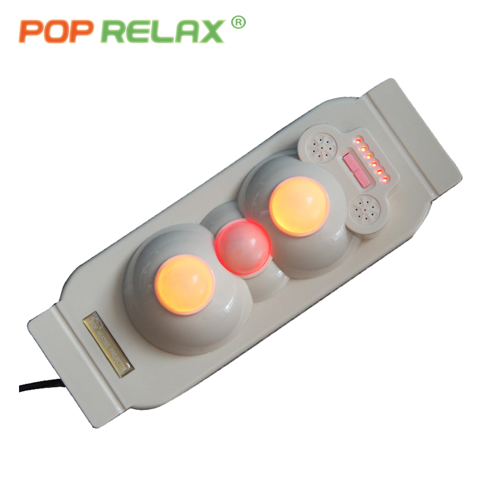 POP RELAX 3 balls heated jade roller prostate massager for men infrared therapy body rolling massage projector heater instrument pop relax health products electric prostate massage for men handhend infrared heating therapy device 3 balls jade stone massager