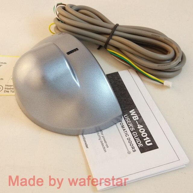 Free shipping 2pcs in a Lot Automatic door sensor,microwave motion sensor,radar sensor 24.125GHZ type Silver color