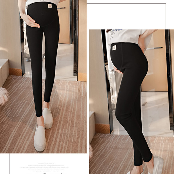 3102# Across V Low Waist Belly Maternity Legging Spring Autumn Fashion Knitted Clothes for Pregnant Women Pregnancy Skinny Pants