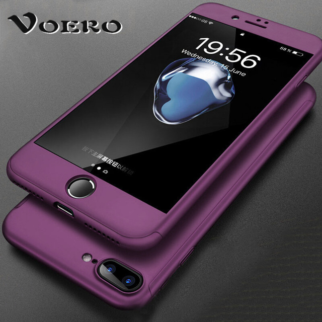 wholesale dealer 020ca 13113 US $2.87 |VOERO 360 Degree Full Cover Case For iPhone 6 6s 7 Plus Cases  wish Tempered Glass For iphone 8 8 Plus Phone Case Capa-in Fitted Cases  from ...