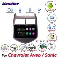 Liandlee автомобиля системы Android для Chevrolet Aveo/Sonic 2011 ~ 2018 радио вьедо BT gps Navi географические карты навигации экран Мультимедиа без DVD