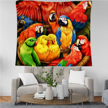 PLstar Cosmos Tapestry Parrot Flower 3D Printing Tapestrying  Rectangular Home Decor Wall Hanging New style 7