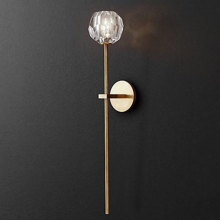 modern Retro crystal Wall Lamp gold iron Restaurant Cognac indoor lighting bedside lamp Wall Lamp sconce