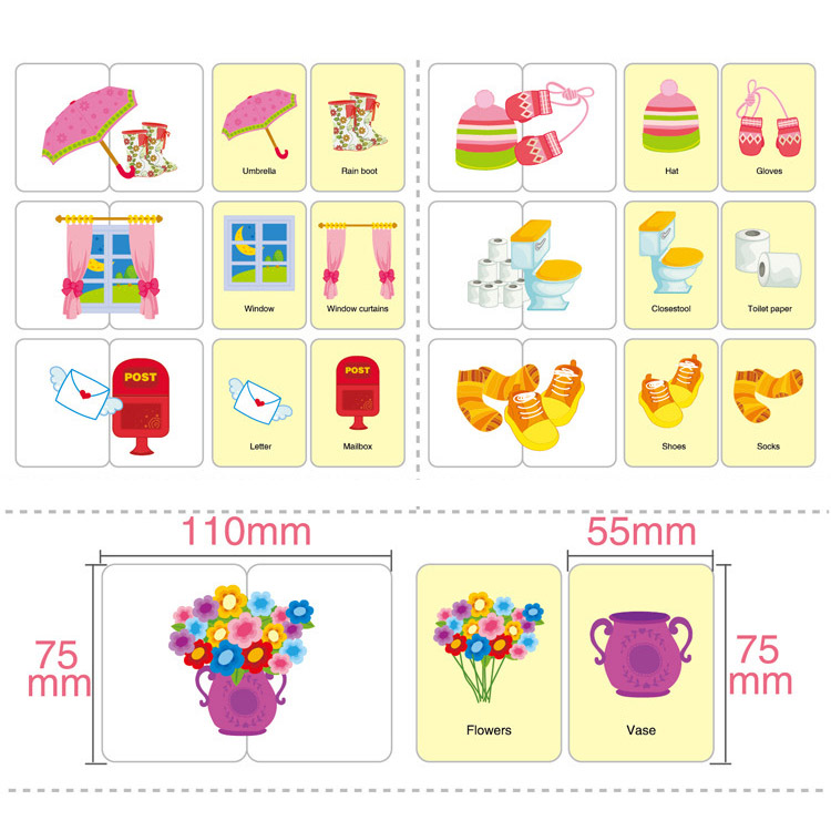 32 Pcs/Box Kids Puzzles Toy Baby Cognition Toddler Fruit/Animal/Life Cards Matching Game Infant Cognitive Card Gift FJ88