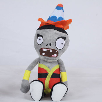New Arrival 30cm Plants vs Zombies 2 Hats Zombie Stuffed Plush Toys PVZ Conehead Zombies Plush Toy Doll for Kids Children Gifts image