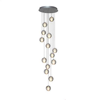 14 cabezas diseño bola de cristal moderno LED colgante luminarias ...