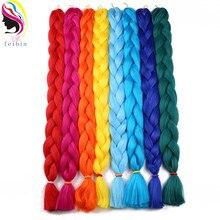 Feibin Twist крючком Джамбо косы синтетические накладные волосы плетение волос 165 г 41 дюймов 104 см