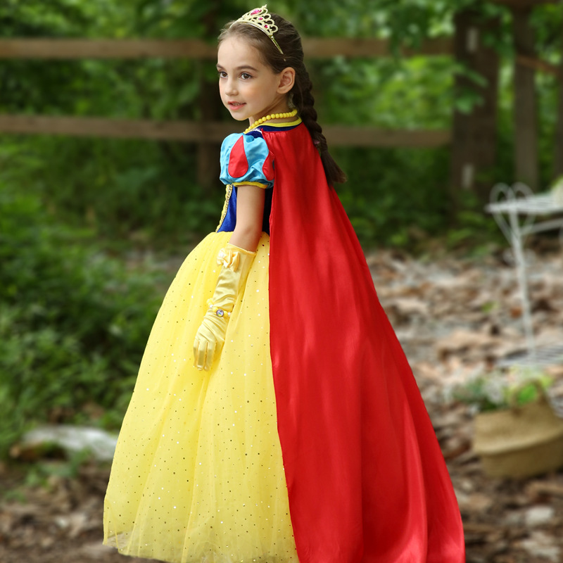 New Girls Fantasia Snow White Dress Girl Halloween Party Cosplay Dress Costume Kids Princess Dresses Children Christmas Clothing