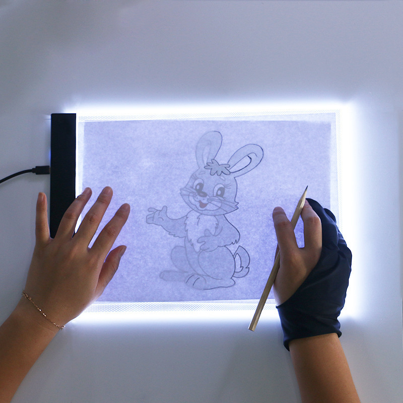 A4 Dimmable LED Light Drawing Tablets Kids Art Graphic Tablets Writing Pad Painting Copy BoardDiamond Painting Embroidery Tools