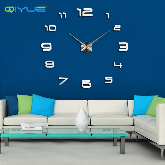 European Wall Clock Large Digital Creative Living Room Bedroom Watch Fun Diy