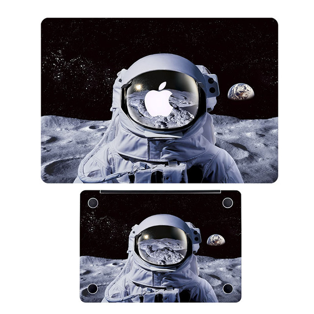 Astronaut on Moon Full Cover Skin Laptop  Sticker for MacBook Air/Pro/Retina 11 12 13 15 HP Sony Dell Protective Notebook Decal