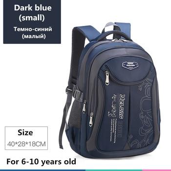 2020 hot new children school bags for teenagers boys girls big capacity school backpack waterproof satchel kids book bag mochila - Small-Dark blue