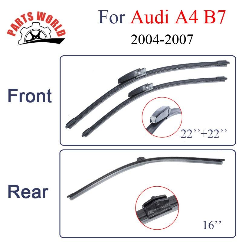 Metlice brisalcev spredaj in zadaj za avtomobile Audi A4 B7 2004 2005 2006 2007 Visokokakovostni avtomobilski dodatki za avtomobilsko vetrobransko steklo