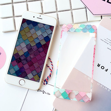 Sizzling Sale Rushed Trend Tempered Movie Anti-knock Multicolor Mermaid Ice Cream 3d Display screen Protector For Iphones 6 6plus I7 I7plus