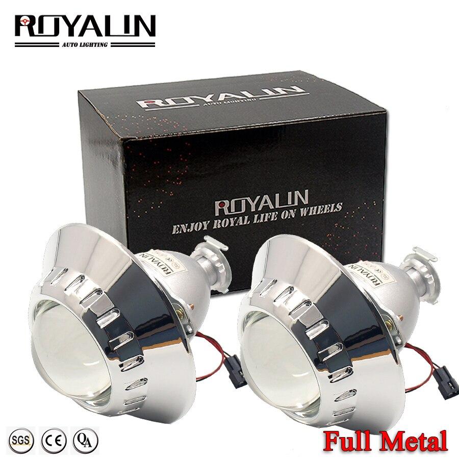 ROYALIN plein métal HID bi-xénon projecteur lentille avec E46-R masque étendu pour BMW M3 E90/E91/E92/E93 H1 H4 H7 voiture-style