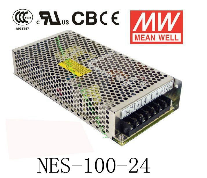 Original MEAN WELL power suply unit ac to dc power supply NES-100-24 100W 24V 4.5A MEANWELL meanwell 24v 50w ul certificated nes series switching power supply 85 264v ac to 24v dc