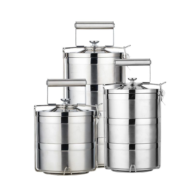 2018 neue Thermos Container Lunch Box Edelstahl 1.4L 2.1L 2.8L Schule Bento Box Lagerung Tragbare Lunchbox Geschirr