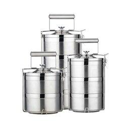 2018 nuevo contenedor de comida termo lonchera de acero inoxidable 1.4L 2.1L 2.8L caja de Bento escolar de almacenamiento lonchera portátil