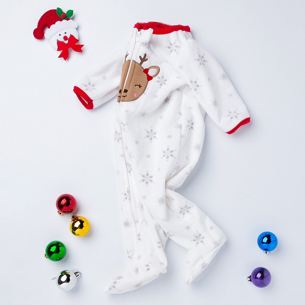Newborn Thicken Warm Romper Boy/Girl Christmas Deer Long Sleeve Overalls Baby Autumn/Winter Jumpsuit One-pieces Infantil Clothes