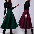 Solid Color Long Cotton Female Skirts Vintage Fashion Skinny Autumn And Winter Women Skirt Saia Longa Big Size A2783
