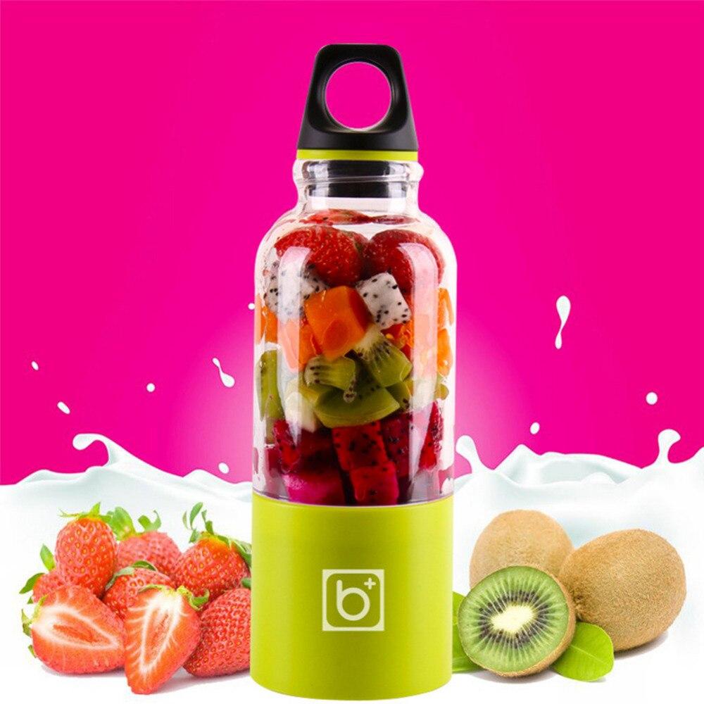 Exprimidor eléctrico portátil de 500 ml taza USB recargable verduras zumo de frutas botella Extractor de jugo batidora mezcladora
