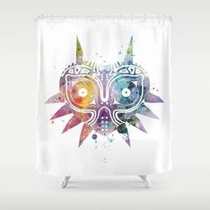Productos de baño de cortina de ducha de máscara de selda Majoras decoración de cortina de ducha con ganchos a prueba de agua