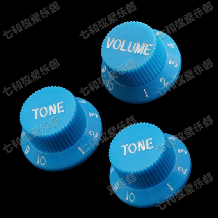 G5 Blue Guitar Parts Black Color Electric Guitar Knob Cap