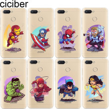 ciciber Iron Man Phone Case for Xiaomi Redmi 6 5 4 3 A X S Pro Plus S2 Soft TPU Cover Note 7 Coque