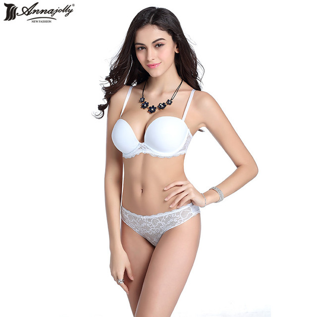 Annajolly Women Underwear Sexy Bra Sets Women Clothing Adjustable Brassiere Seamless Lingerie Underwire Push Up Bra New U8559