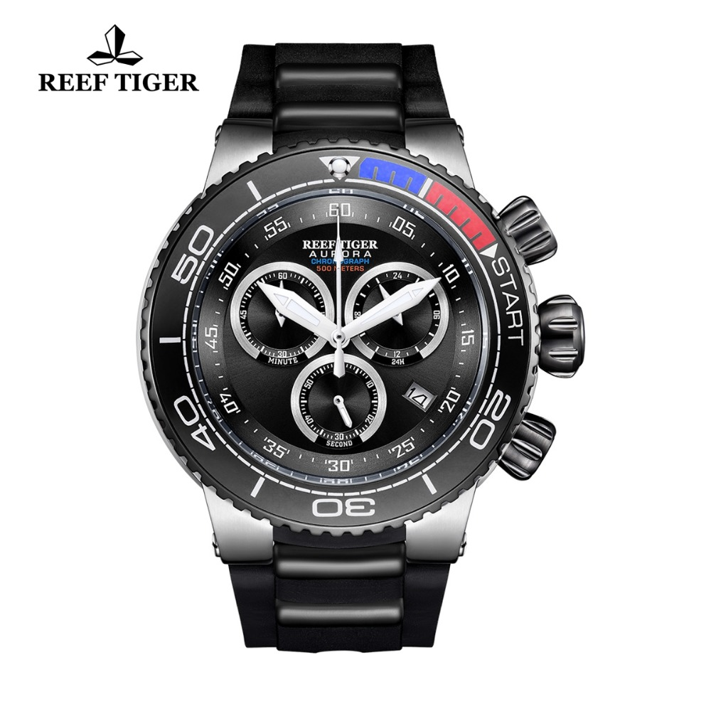 Reef Tiger/RT Luxury Sport Watches for Men Rubber Strap Steel Military Watches Waterproof Quartz Watches RGA3168Reef Tiger/RT Luxury Sport Watches for Men Rubber Strap Steel Military Watches Waterproof Quartz Watches RGA3168