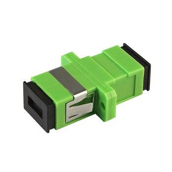 500pcs/Lot SC APC Adapter Connector SM Fiber Optic Adapter Connector Simplex Single mode Plastic