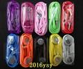 300 pçs/lote colorido earphone3.5mm stereo in ear fone de ouvido fone de ouvido com microfone para iphone ipad ipod nano