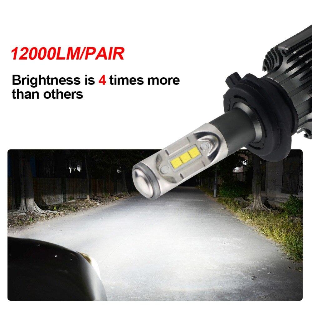 Avacom H4 LED Bulb 12V 12000lm Car Headlight Auto Bulb H1 H11 H8 LED ...