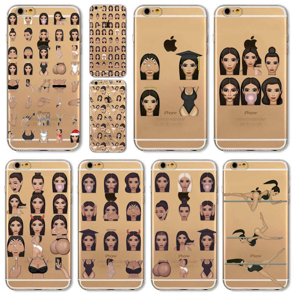 3435e39aa3b Funny Crying Face Kimoji Kim Kardashian Cases For iphone 6 6s 4.7inch Clear  Ultrathin TPU Cover For Apple 6s Coque Fundas on Aliexpress.com