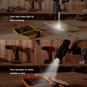 Image 5 - DEKO DCS3.6DU2 Cordless Electric Screwdriver with Rechargeable Battery Twistable Handle DIY Household Screwdriver with LED Light