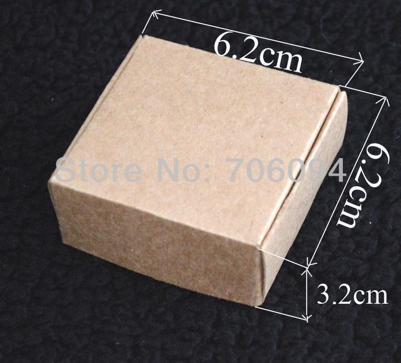 6.2*6.2*3.2CM,100pcs/lot, Free Shipping Jewerly kraft paper box Brown kraft handmade gift boxes,custom box logo kraft paper box