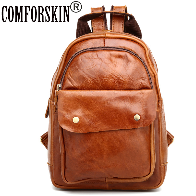 COMFORSKIN Brand Women Backpacks New Arrivals Mochilas Mujer Premium Cow Leather Fashion Vintage Women Bags with Soft Handle