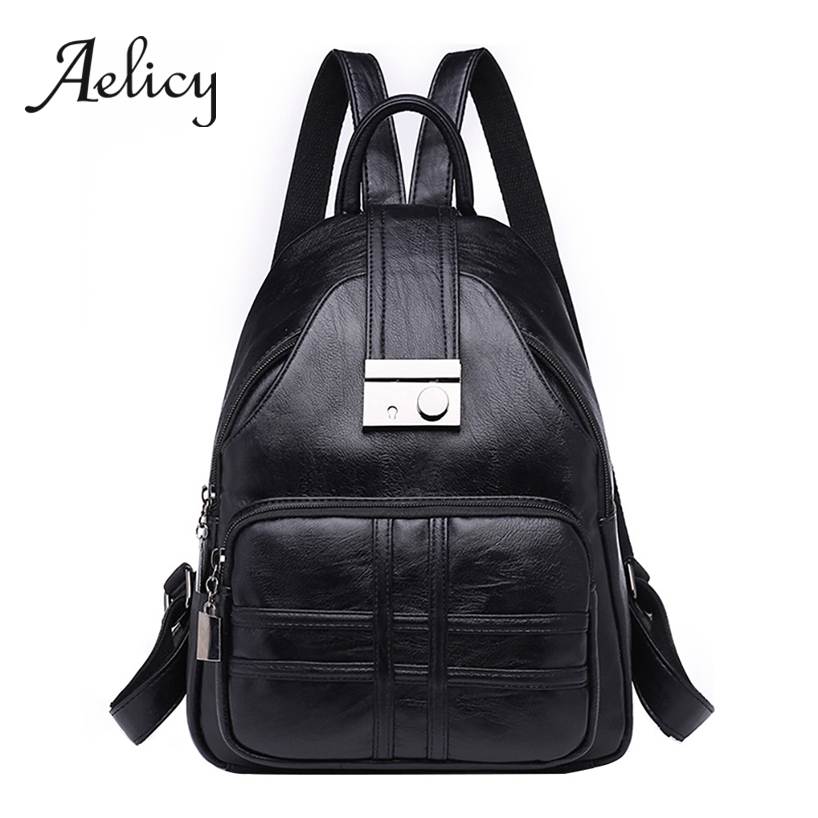 Aelicy Leather Backpack Women Travel Anti-theft Satchel Female Quality PU School Bag Lady Fashion Retro Shoulder Backpacks BagAelicy Leather Backpack Women Travel Anti-theft Satchel Female Quality PU School Bag Lady Fashion Retro Shoulder Backpacks Bag